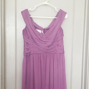 David's Bridal Wisteria bridesmaid dress size 14